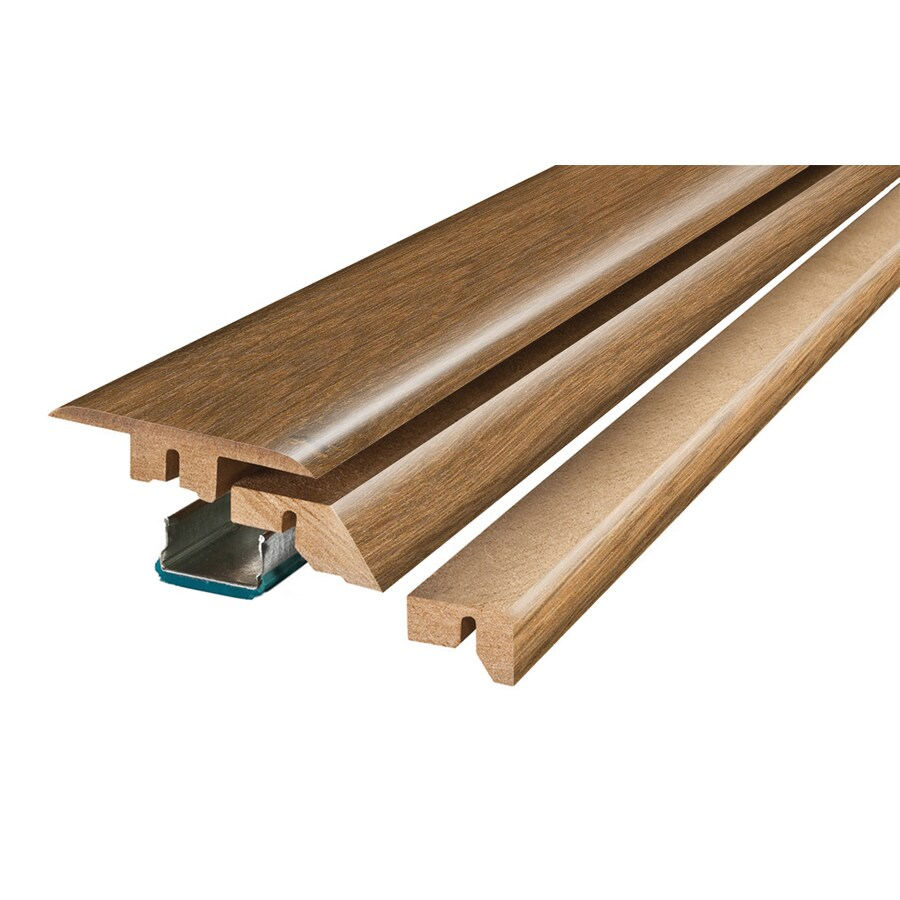 SimpleSolutions 2.37-in x 78.74-in Arlington Oak/Truffle Hickory 4-N-1 Floor Moulding