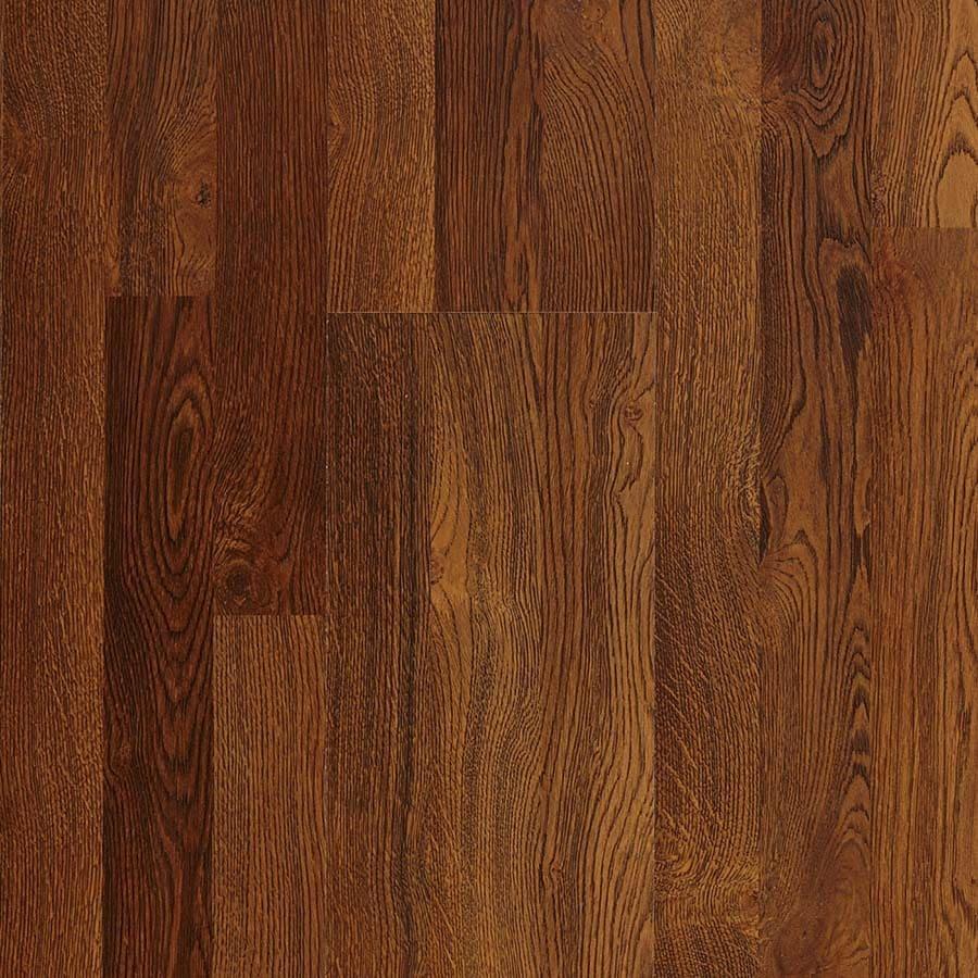 Pergo Max 7.61-in W x 3.96-ft L Sherwood Oak Embossed Laminate Wood Planks