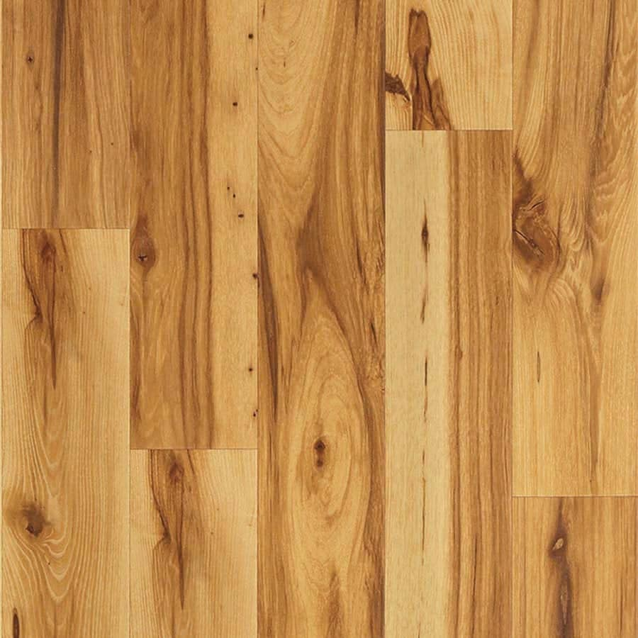 Pergo MAX 4.85-in W x 3.93-ft L Dawson Hickory Handscraped Wood Plank Laminate Flooring