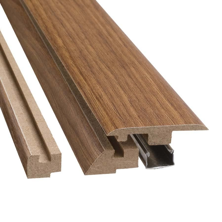 SimpleSolutions 2.37-in x 78.74-in Lodge Oak 4-n-1 Floor Moulding