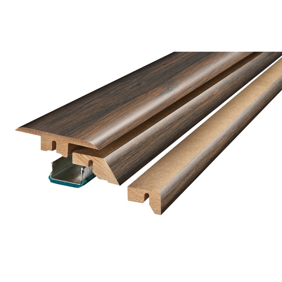 SimpleSolutions 2.37-in x 78.74-in Lumbermill Oak / Wood Medley 4-N-1 Floor Moulding