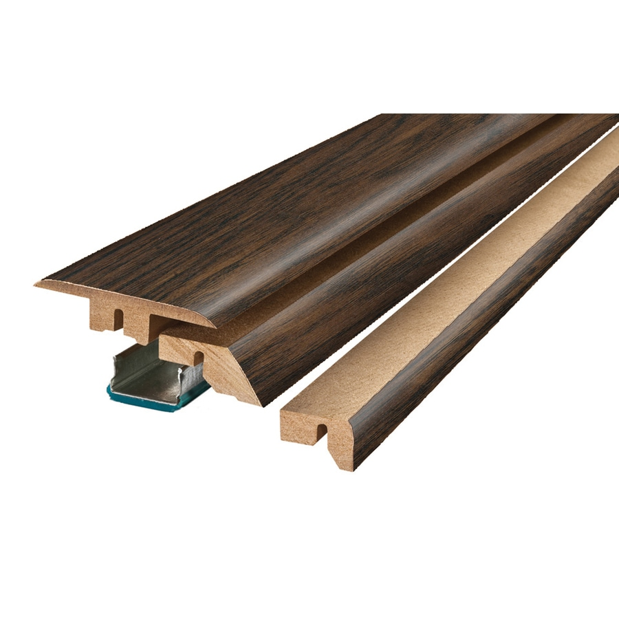 SimpleSolutions 2.37-in x 78.74-in Manor Hickory 4-N-1 Floor Moulding