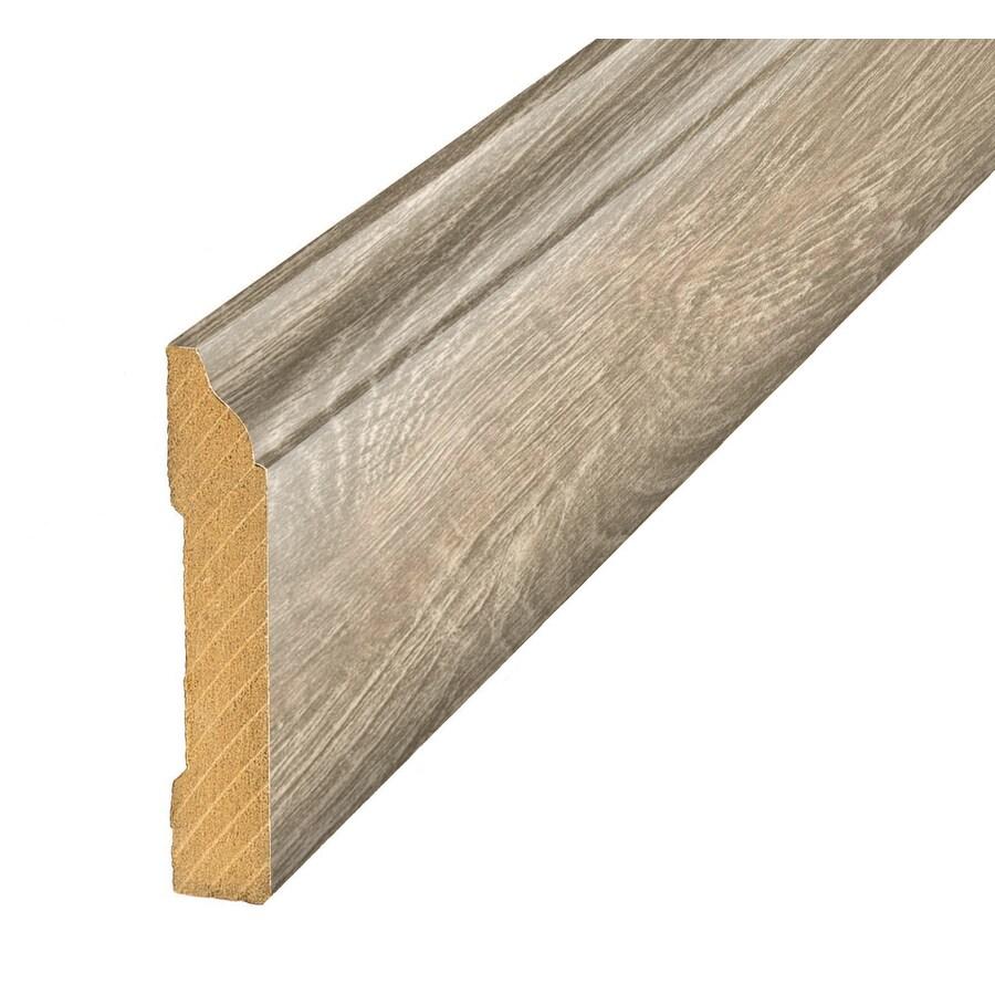 SimpleSolutions 3.3-in x 94.5-in Grey Pine Base Floor Moulding