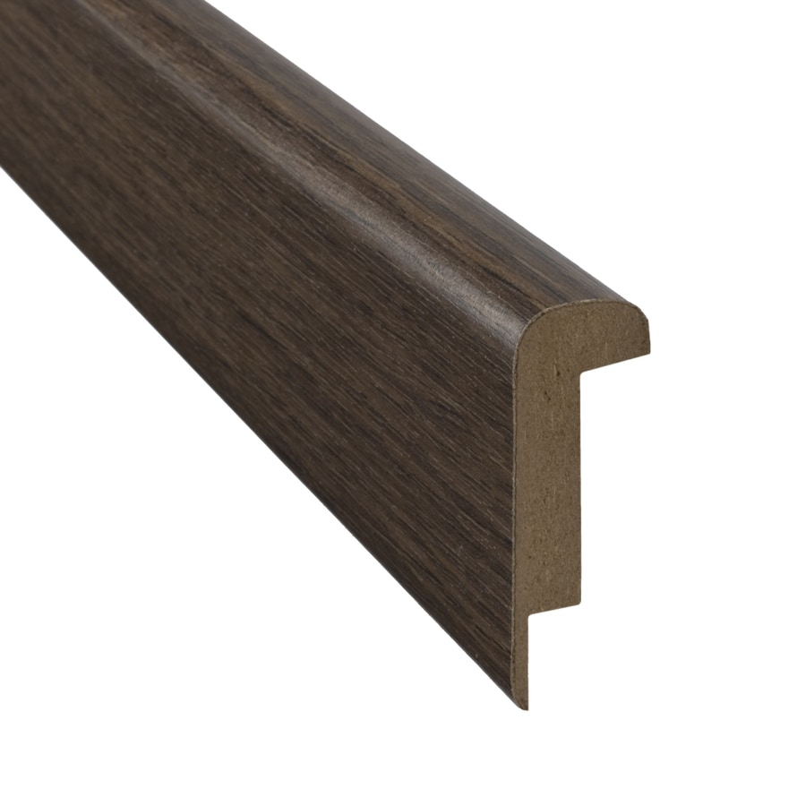 SimpleSolutions 2.37 In X 78.74 In Natural Walnut Stair Nose Floor Moulding