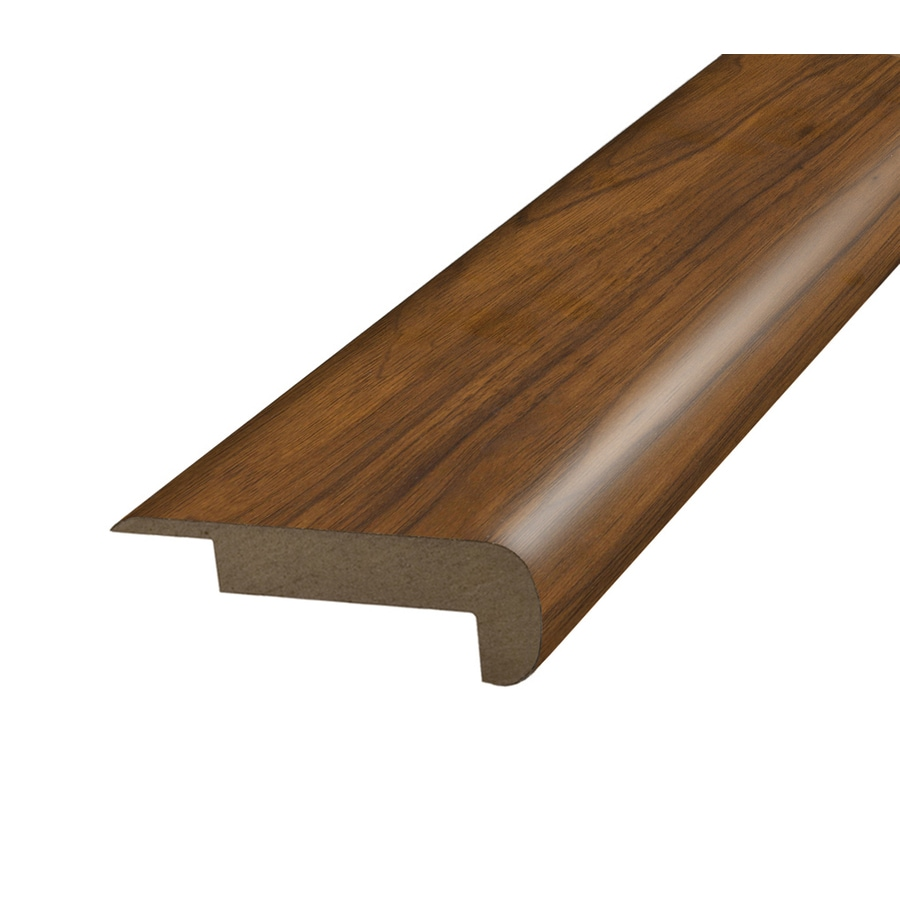SimpleSolutions 2.37-in x 78.7-in Natural Walnut Stair Nose Floor Moulding