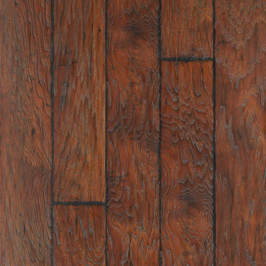 Style Selections 6 14 In W X 4 52 Ft L Barrel Hickory Handsed Wood Plank