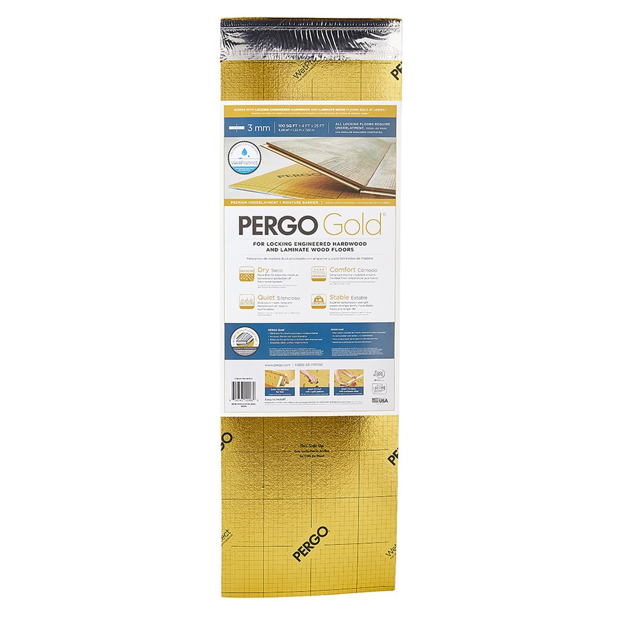 Pergo Gold 100 Sq Ft Premium 3mm Flooring Underlayment At