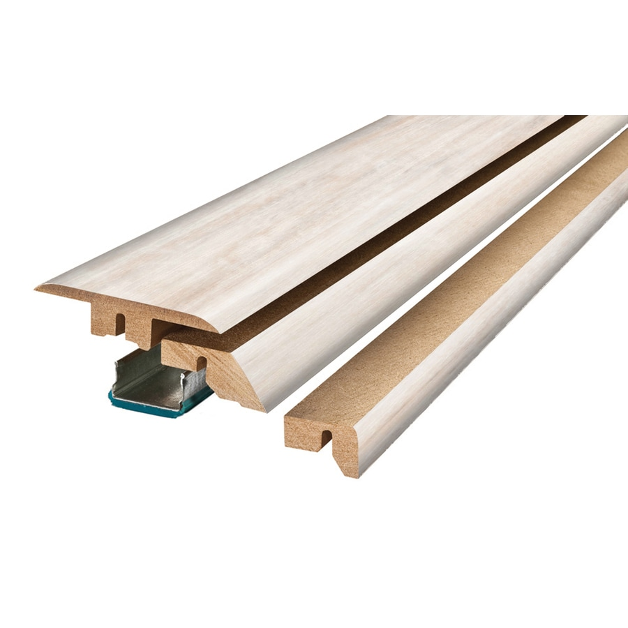 SimpleSolutions 2.37-in x 78.74-in Frosted Maple 4-N-1 Floor Moulding