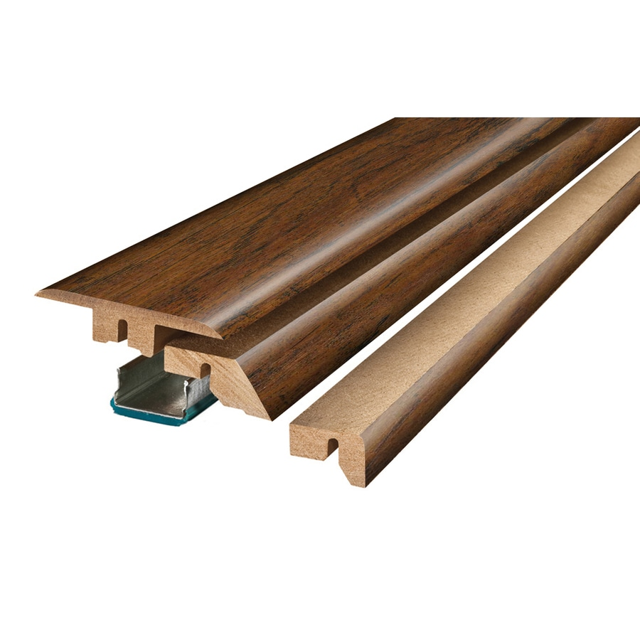 SimpleSolutions 2.37-in x 78.74-in Ambered Oak/Acacia 4-N-1 Floor Moulding
