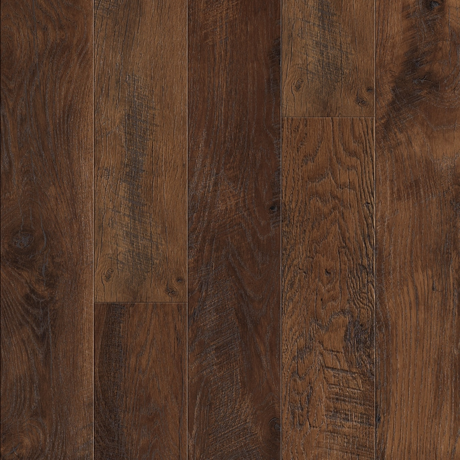 Pergo MAX 6.14-in W x 3.93-ft L Lumbermill Oak Embossed Wood Plank Laminate Flooring