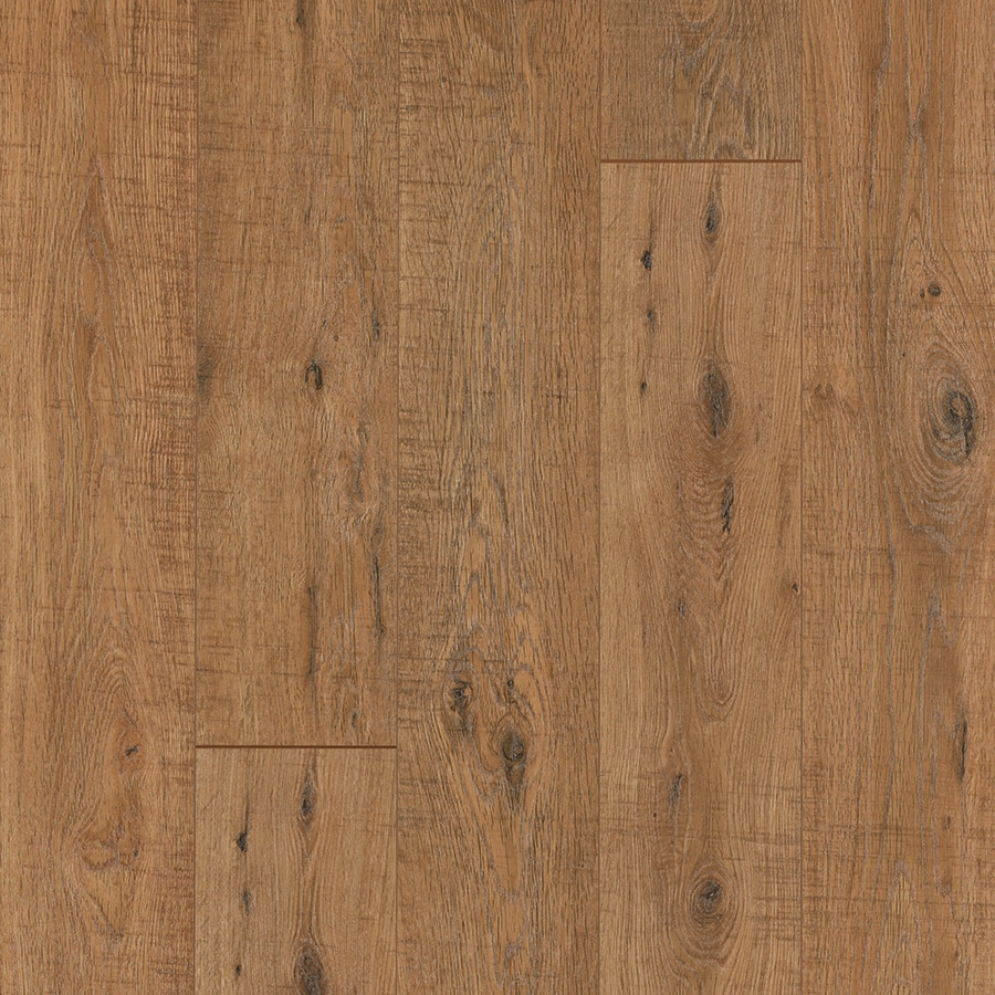 Pergo Max 5.23-in W x 3.93-ft L Nashville Oak Embossed Wood Plank Laminate Flooring