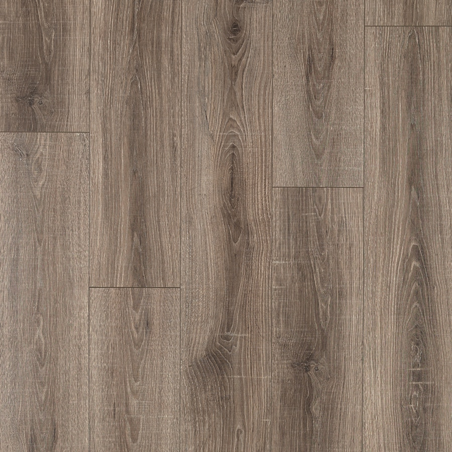 Shop pergo max premier heathered oak wood planks laminate for Hardwood laminate
