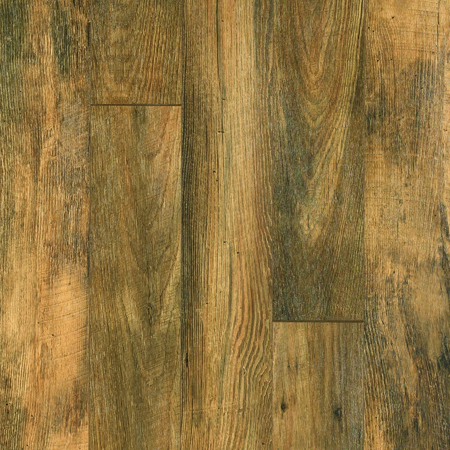Style Selections 5.23-in W x 3.93-ft L Harvest Mill Chestnut Embossed Wood Plank Laminate Flooring