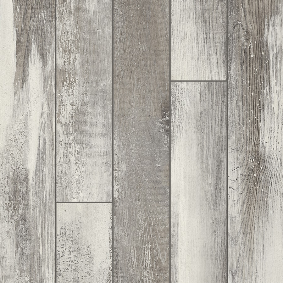 Shop Pergo Portfolio 5.23-in W x 3.93-ft L Iceland Oak Grey Embossed Wood Plank Laminate ...