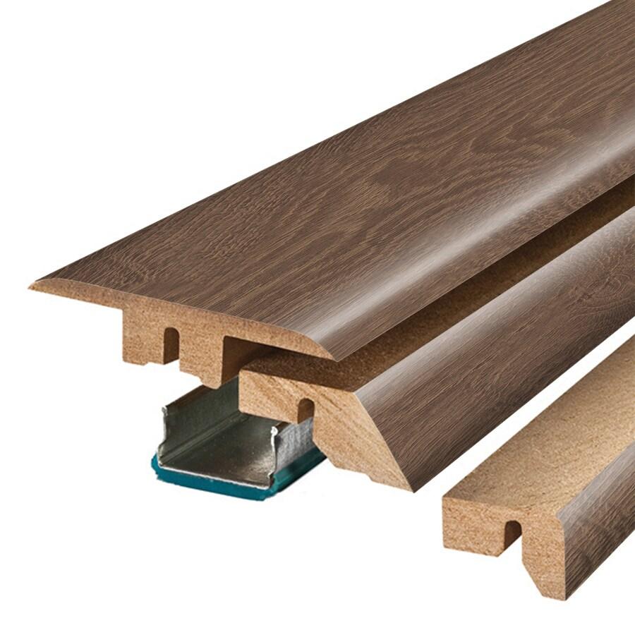 SimpleSolutions 2.37-in x 78.74-in Chocolate Oak 4-N-1 Floor Moulding