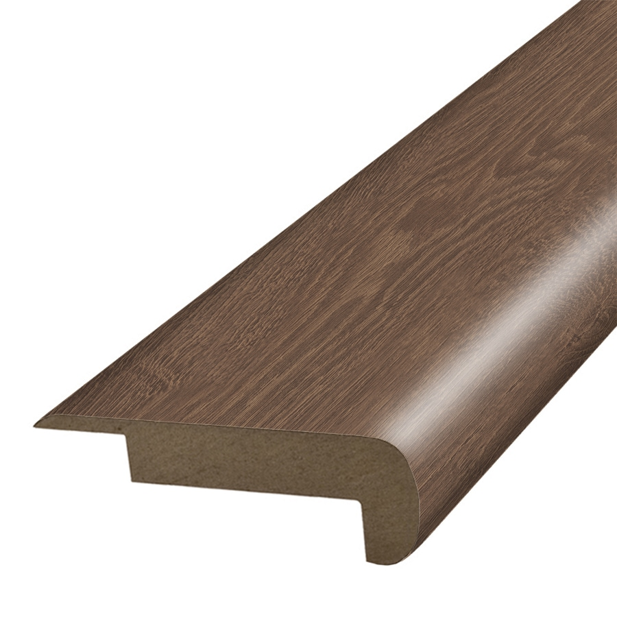 SimpleSolutions 2.37-in x 78.7-in Chocolate Oak Stair Nose Floor Moulding