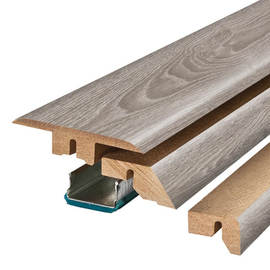 SimpleSolutions 2.37-in x 78.74-in Silver Oak 4-N-1 Floor Moulding
