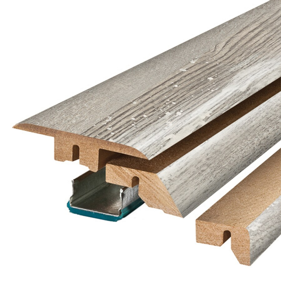 SimpleSolutions 2.37-in x 78.74-in Iceland Grey Oak 4-N-1 Floor Moulding