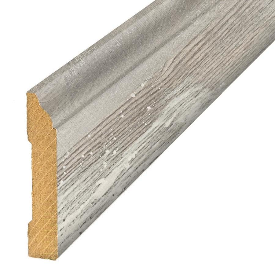 SimpleSolutions 3.3-in x 94.48-in Iceland Grey Oak Base Floor Moulding