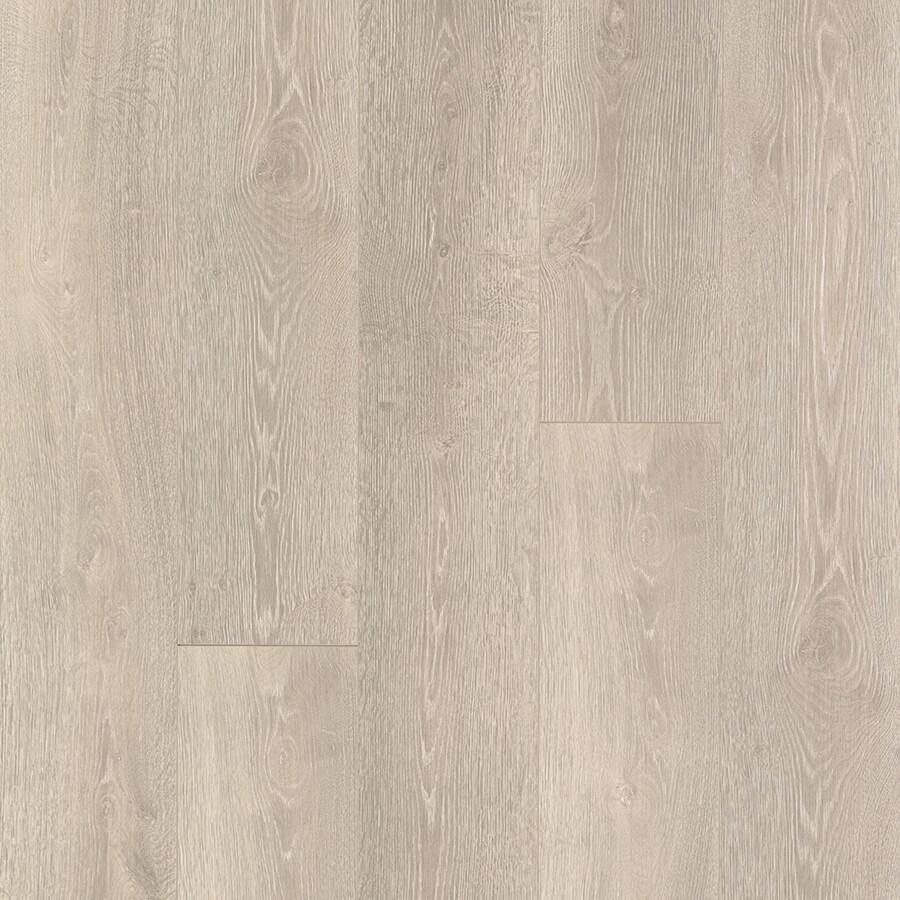 Pergo TimberCraft 7.48-in W x 4.52-ft L Salt Mill Oak Embossed Wood Plank Laminate Flooring
