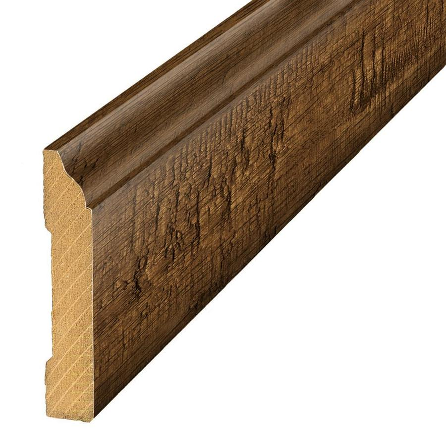 SimpleSolutions 3.3-in x 94.5-in Crest Ridge Hickory Base Floor Moulding