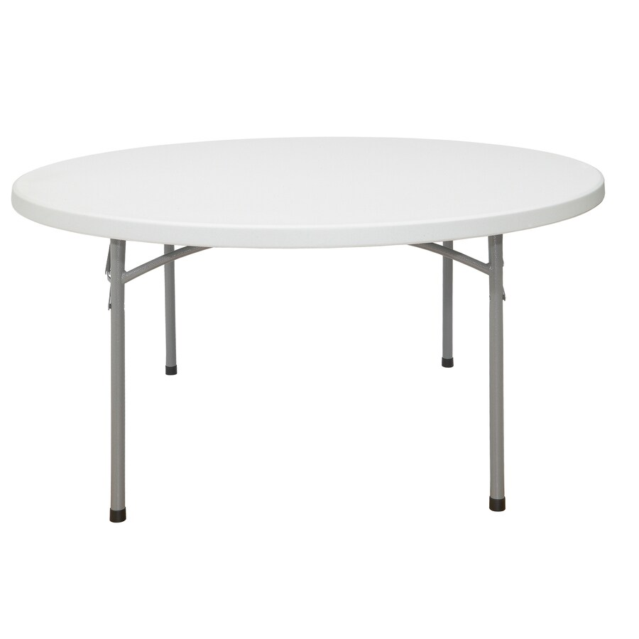 National Public Seating 30-Pack 71-in x 71-in Circle Steel Lightly Spotted Grey Folding Tables