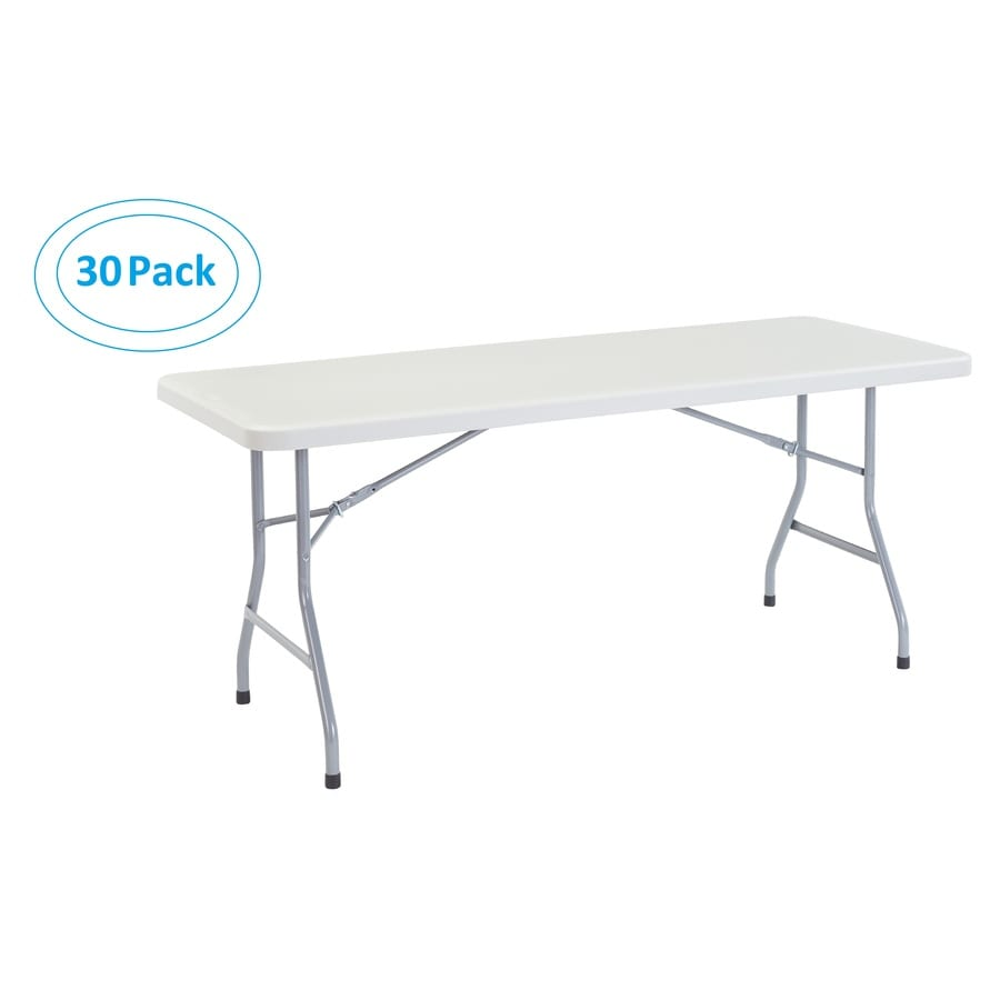 National Public Seating 30-Pack 72-in x 30-in Rectangle Steel Lightly Spotted Grey Folding Tables