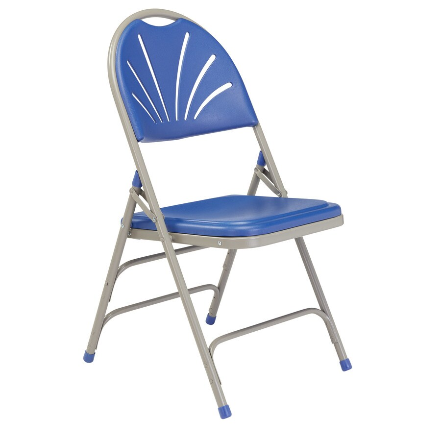 National Public Seating 4-Pack Indoor/Outdoor Steel Banquet Folding Chair