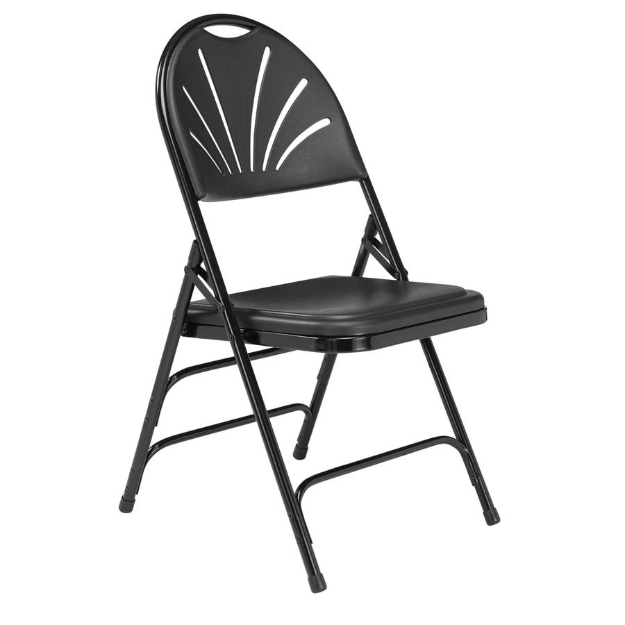 National Public Seating 52-Pack Indoor Only Steel Black Banquet Folding Chair