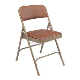 National Public Seating Indoor Only Steel Honey Brown Banquet Folding Chair
