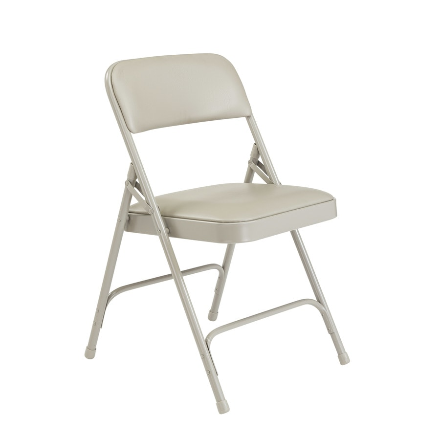 National Public Seating 24-Pack Indoor Steel Grey Banquet Folding Chairs
