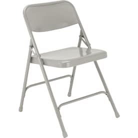 national public seating indoor steel grey standard folding chairs