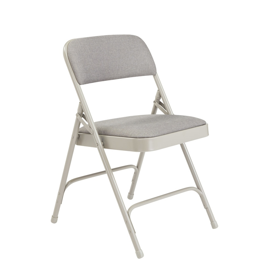 National Public Seating 52-Pack Indoor Steel Grey Banquet Folding Chairs