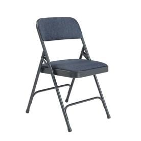 National Public Seating 4 Pack Indoor Only Steel Blue Banquet Folding Chair