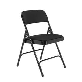 National Public Seating Indoor Steel Black Banquet Folding Chairs