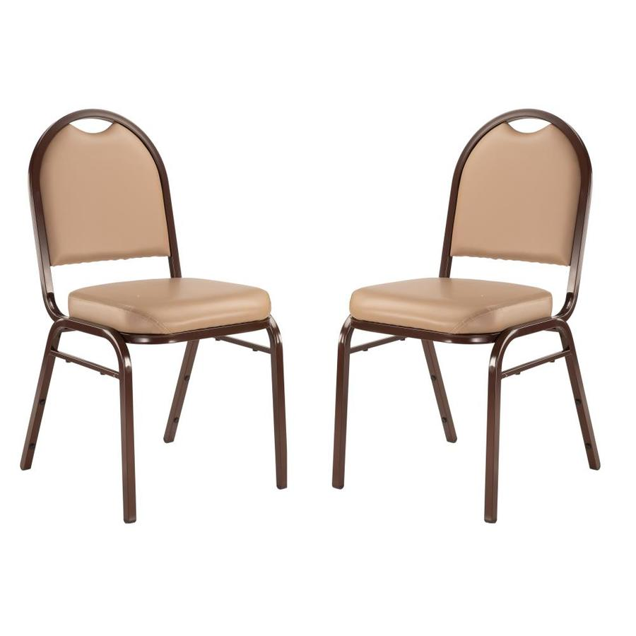 National Public Seating 2-Piece Mocha Frame Stackable Reception Chair