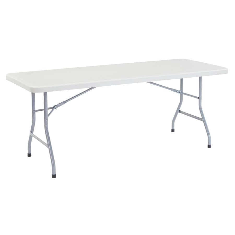 National Public Seating 72-in x 30-in Rectangle Steel Speckled Grey Folding Table