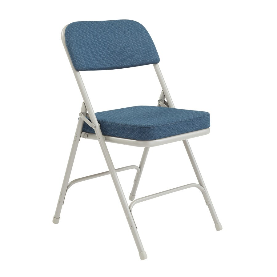 National Public Seating 52-Pack Indoor Only Steel Blue Banquet Folding Chair