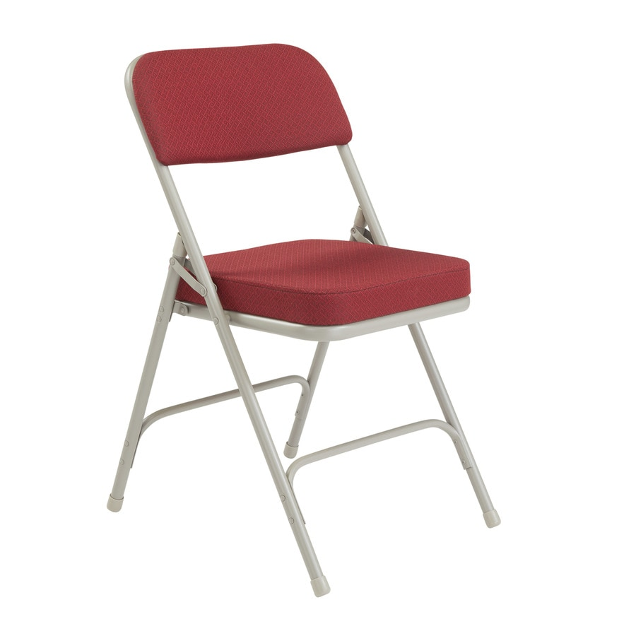 National Public Seating 52-Pack Indoor Only Steel Burgundy Pattern Banquet Folding Chair