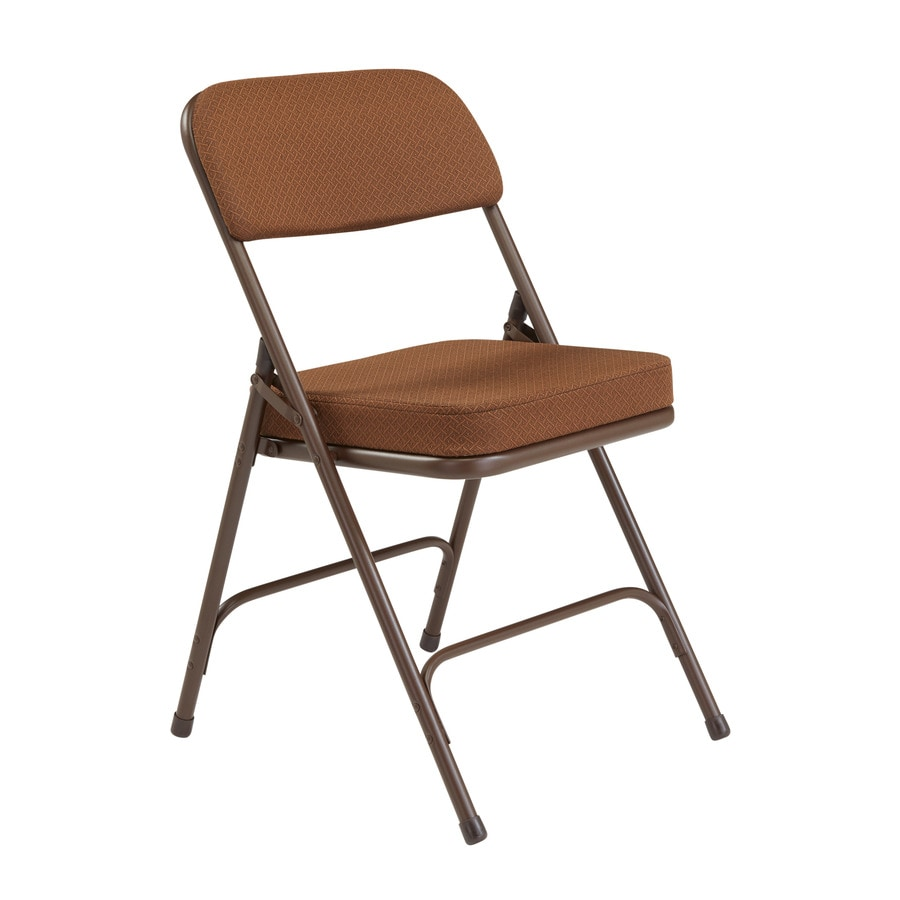 National Public Seating 2-Pack Indoor Only Steel Gold Banquet Folding Chair