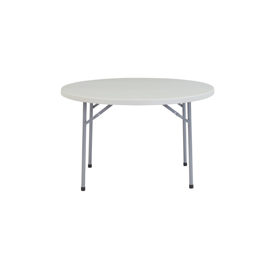 National Public Seating 48-in x 48-in Circle Steel Speckled Grey Folding Table