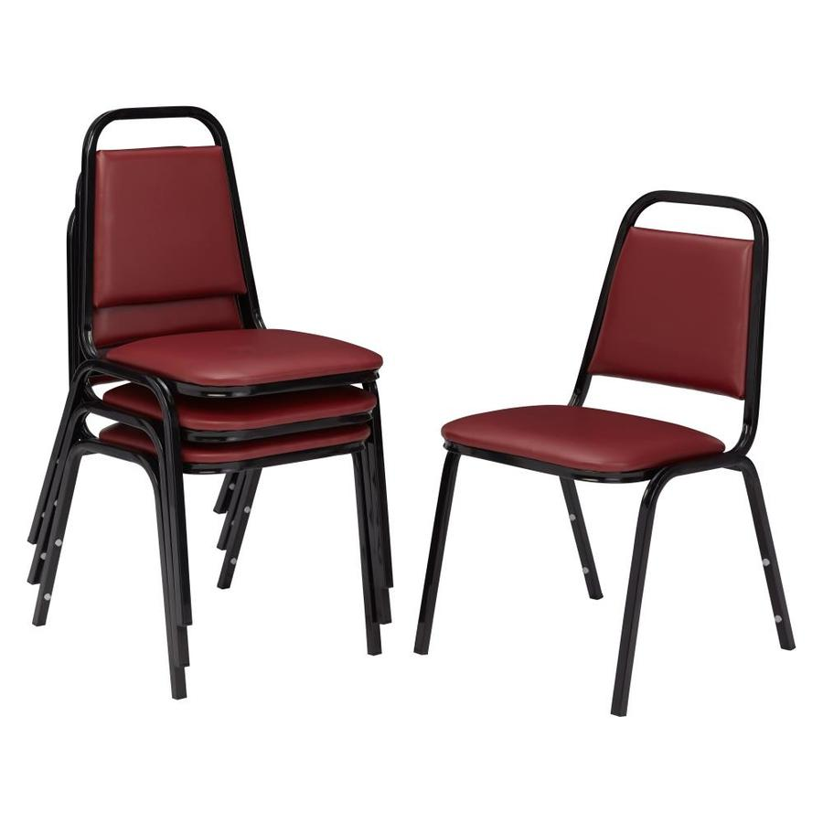 National Public Seating 4-Piece Powder Coat Frame Stackable Reception Chairs