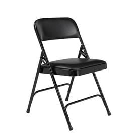 National Public Seating Indoor Steel Black Banquet Folding Chairs  sc 1 st  Loweu0027s & Shop Folding Chairs at Lowes.com