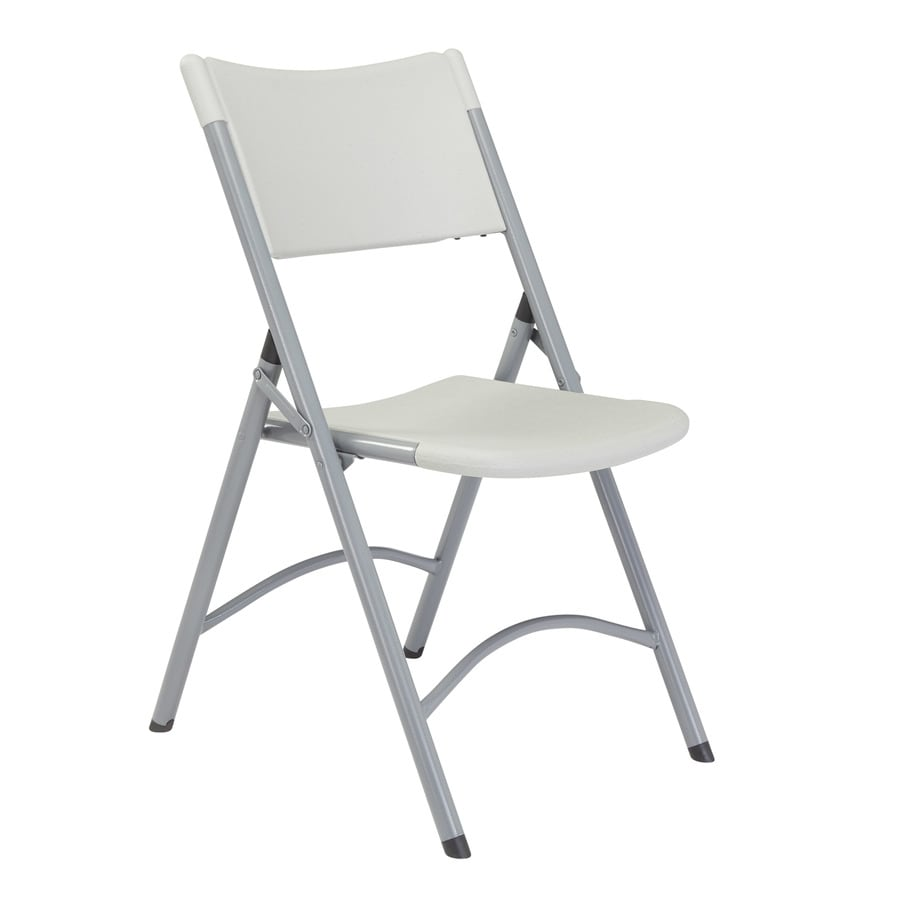National Public Seating 52-Pack Indoor/Outdoor Steel Light Grey Standard Folding Chair