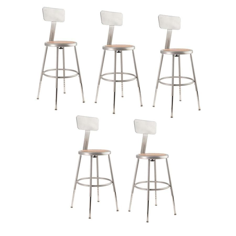 Shop National Public Seating 5 Pack Work Seats At Lowes Com