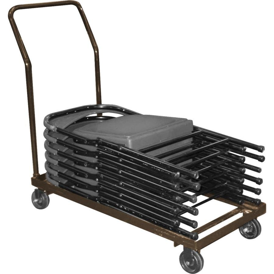 National Public Seating 290-lb Capacity Brown Steel Dolly