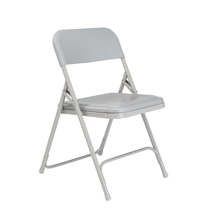 National Public Seating 4-Pack Indoor/Outdoor Steel Grey Banquet Folding Chair