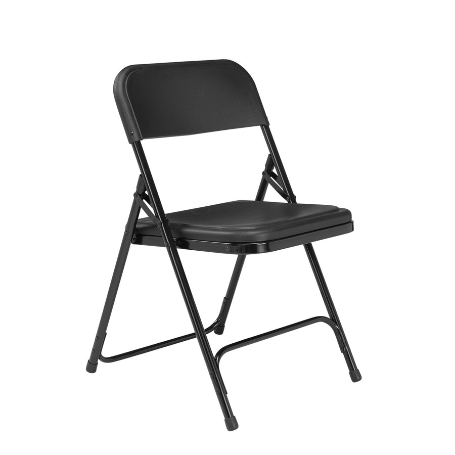 National Public Seating 24-Pack Indoor/Outdoor Steel Black Standard Folding Chair