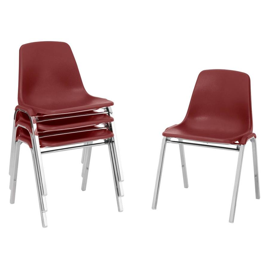 National Public Seating 4-Piece Chrome Frame Stackable Reception Chairs