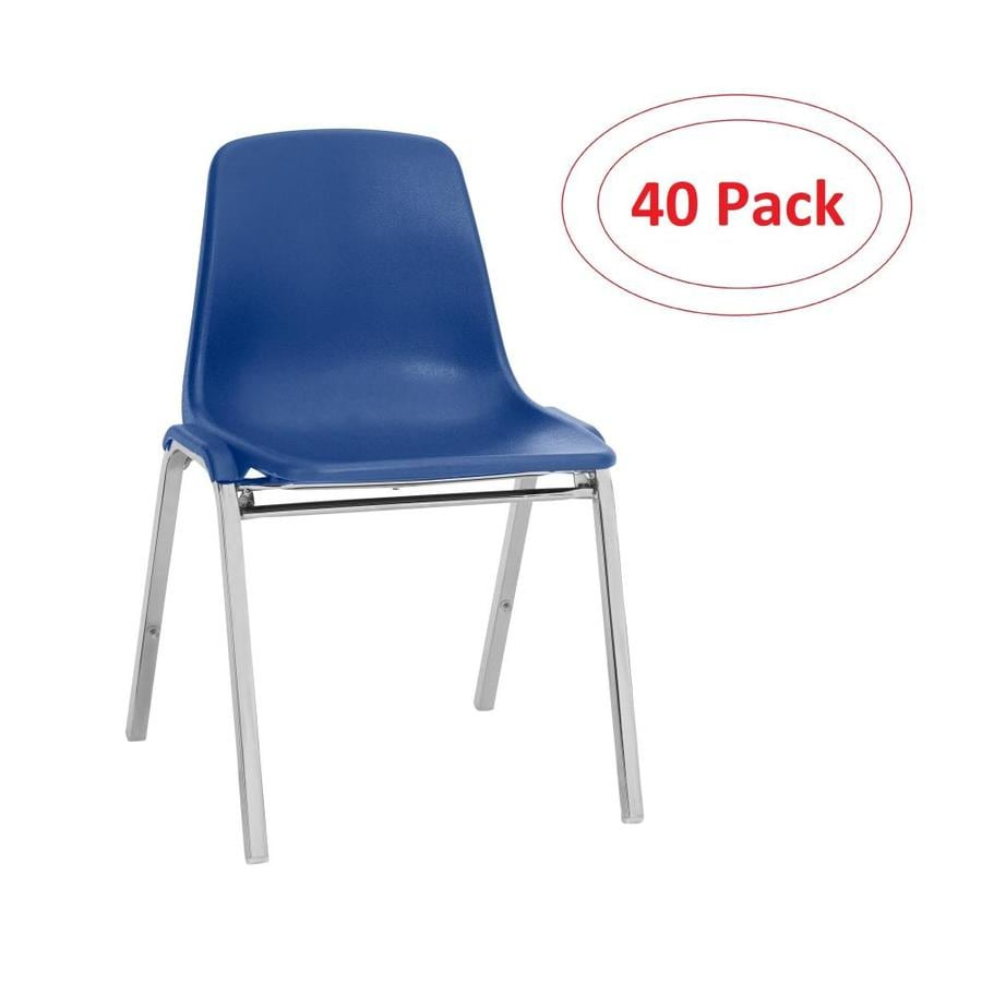National Public Seating 40-Piece Chrome Frame Stackable Reception Chairs